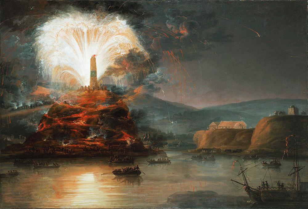 Фейерверки в честь Екатерины во время путешествия в крым/ Неизвестный художник, 1780